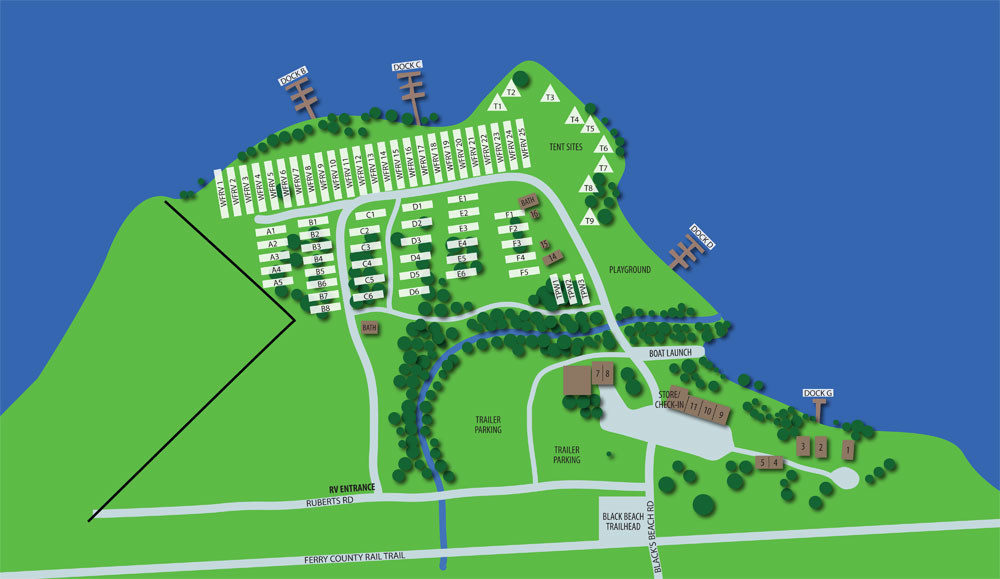 Black Beach Resort Map